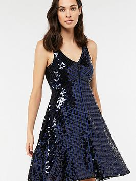 monsoon-dinah-heart-sequin-short-dress-black