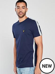 lyle-scott-side-stripe-t-shirt