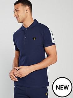 lyle-scott-side-stripe-polo-shirt-navy