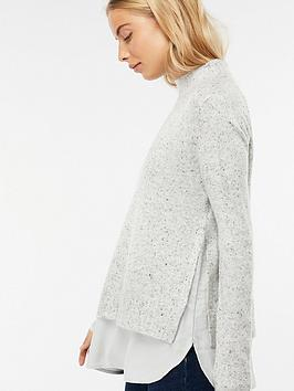 monsoon-perrie-nep-woven-mix-jumper-grey