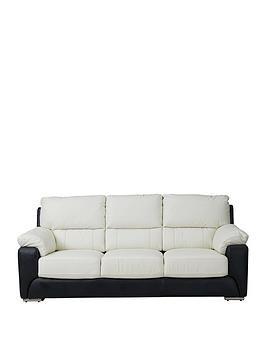 montinbspreal-leatherfauxnbspleather-3-seater-sofa