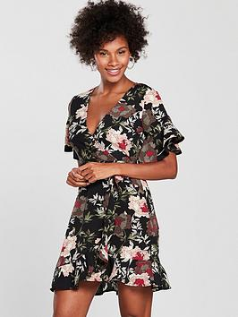 ax-paris-floral-frill-day-dress-blacknbsp