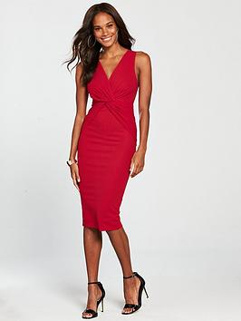 ax-paris-knot-front-dress-rednbsp