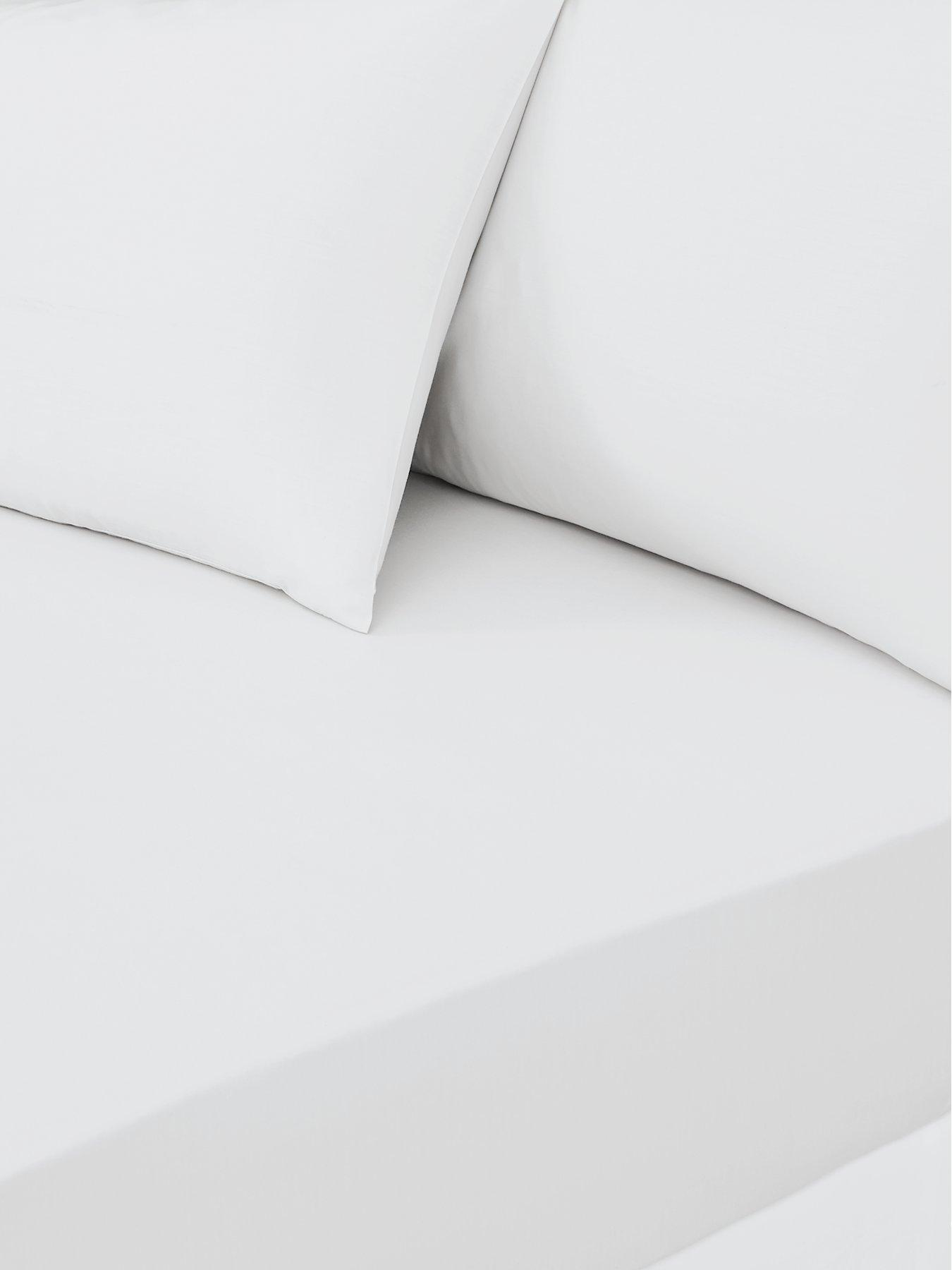 Cotbed, Red Two Pack of 2 Luxury Percale Cot Bed Fitted Sheets Available in 12 Colours