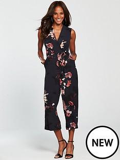 ax-paris-floral-wrap-jumpsuit-navynbsp