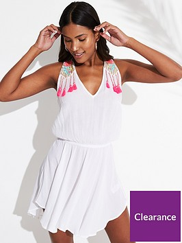 v-by-very-embroidered-back-detail-beach-dress-white