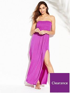 v-by-very-jersey-shirred-bandeau-beach-maxi-dress-bright-purple