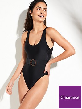 v-by-very-belted-scoop-back-swimsuit