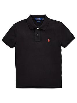 Ralph Lauren Ralph Lauren Boys Classic Short Sleeve Polo Shirt - Black Picture