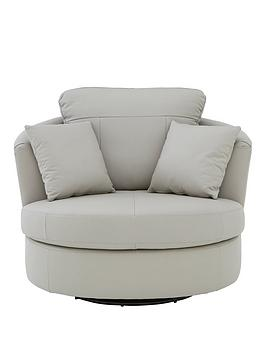 Very Merkle Leather/Faux Leather Swivel Chair Picture