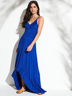 v-by-very-jersey-dipped-hem-frill-trim-maxi-beach-dress