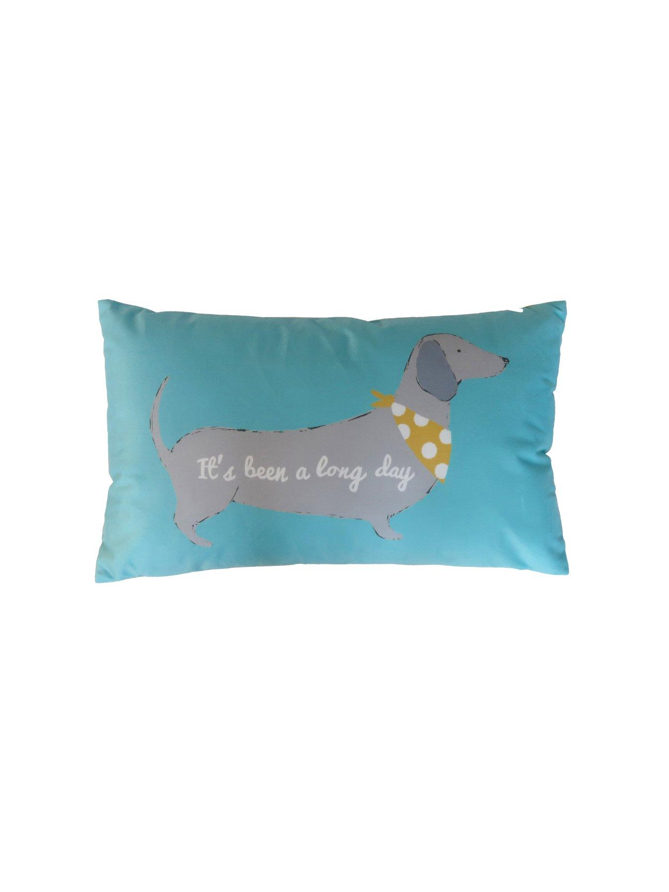 Catherine Lansfield Silly Sausage Dog Filled Cushion Multi 30x50cm
