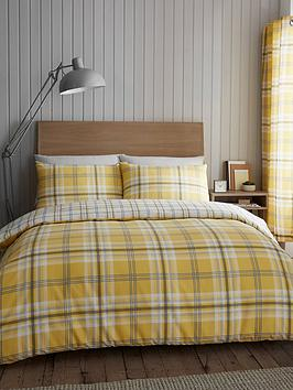 Catherine Lansfield Catherine Lansfield Kelso Duvet Cover And Pillowcase  ... Picture