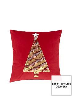 catherine-lansfield-sequin-christmas-tree-cushion