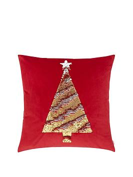 Catherine Lansfield Catherine Lansfield Sequin Christmas Tree Cushion Picture