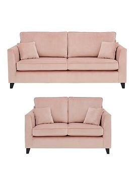 Very New Dante 3 Seater + 2 Seater Fabric Sofa Set (Buy And Save!) Picture