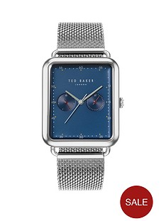 ted-baker-ted-baker-blue-rectangular-dial-stainless-steel-mesh-strap-mens-watch