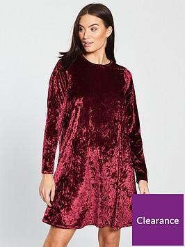 v-by-very-velvet-swing-dress-berrynbsp