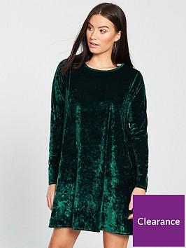 v-by-very-velvet-swing-dress-greennbsp