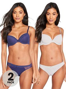 dorina-kendra-2-pack-t-shirt-bras-navygrey