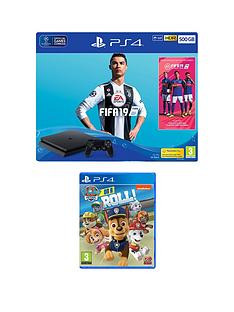 playstation-4-fifa-19-ps4-500gb-bundle-with-paw-patrol-on-a-roll-and-365-day-psn-subscription-card
