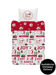 elf-on-the-shelf-reversible-christmas-junior-duvet-cover-set