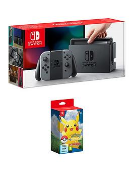 nintendo-switch-grey-console-with-pokemon-lets-go-pikachu-and-poke-ball-plus