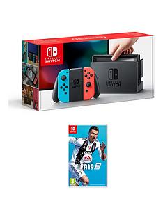 nintendo-switch-nintendo-switch-neon-console-with-fifa-19-with-optional-pro-controller