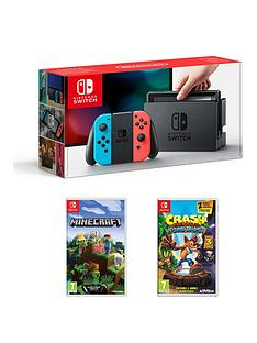 nintendo-switch-neon-console-with-crash-bandicoot-nsane-trilogy-and-minecraft