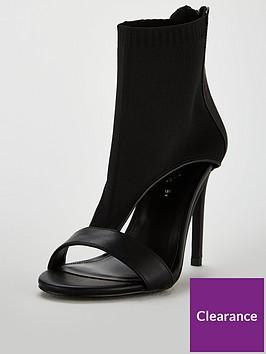 michelle-keegan-bailey-knit-cuff-heeled-sandal-black