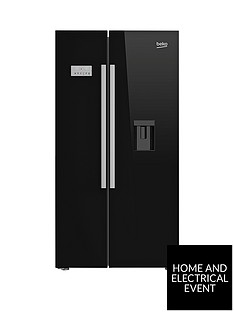 beko-asd241b-american-style-fridge-freezer-with-non-plumbed-water-dispenser-black