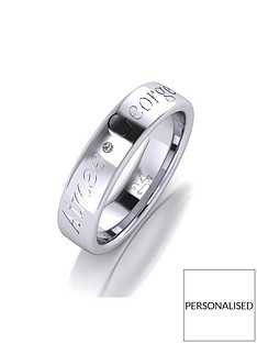 the-love-silver-collection-personalised-argentium-silver-diamond-set-5mm-cushion-court-wedding-band