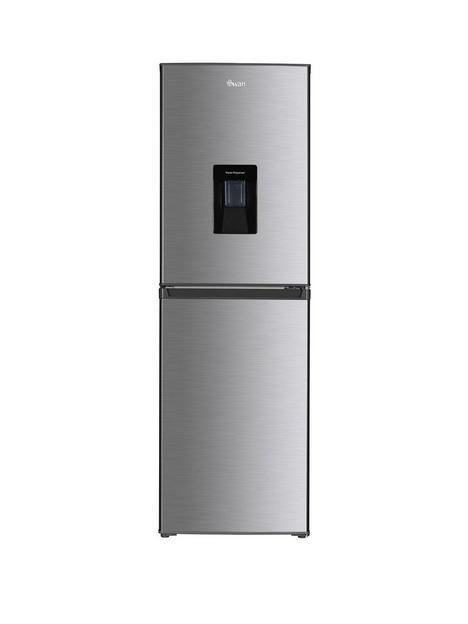 swan-sr15635s-55cmnbspwide-fridge-freezer-with-water-dispenser-silver