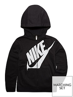 9c9d1279d1a8 Nike Boys Futura Fleece Full Zip Hoodie