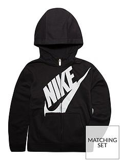 7ed6ca061fe0 Nike Boys Futura Fleece Full Zip Hoodie
