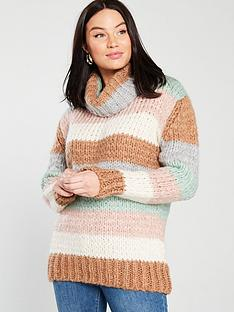 river-island-roll-neck-neutral-stripe-jumper