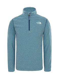 the-north-face-the-north-face-boys-glacier-quarter-zip-fleece-top-ndash-blue