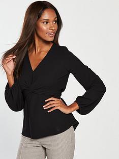 river-island-cross-front-blouse-black