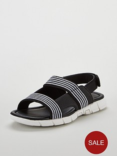 mini-v-by-very-boys-max-elastic-strap-sport-sandals-black