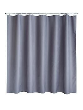 AQUALONA  Aqualona Grey Waffle Shower Curtain