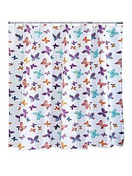 AQUALONA  Aqualona Butterfly Blossom Shower Curtain