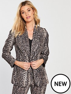 v-by-very-snake-print-suit-jacket