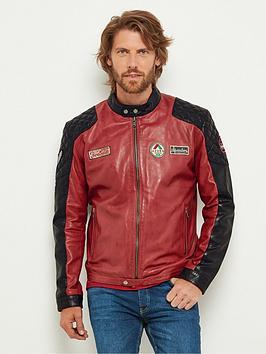 joe-browns-red-badged-leather-biker