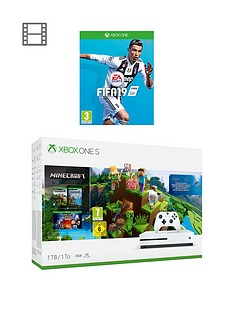 xbox-one-s-xbox-one-s-1tb-minecraft-bundle-with-wireless-controller-and-12-months-live-and-fifa-19