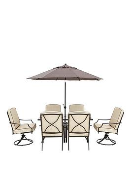 Very Lorain 8 Piece Cushion Dining Set Picture