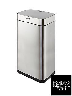 tower-75-litre-rectangular-sensor-bin-ndash-matt-steel