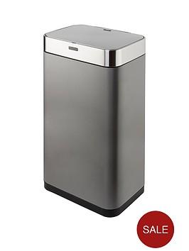 tower-75-litre-rectangular-sensor-bin-ndash-titanium