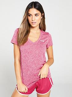under-armour-tech-short-sleeve-v-neck-twist-pinknbsp