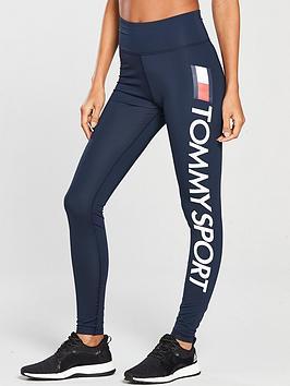 33ca699ae3154 Tommy Hilfiger Legging High Waist Logo - Navy   littlewoods.com