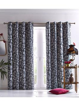 Oasis Home Oasis Home Amelia Eyelet Curtains In Grey Picture